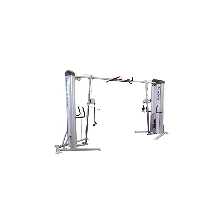 Body Solid S2CCO Pro ClubLine Series II Adjustable Cable Crossover Machine with Rock Grip Pull Up Commercial ProClub Line Functional Strength Machine