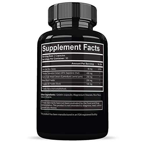 Testosterone Booster for Men - Naturally Increase Stamina & Libido - Endurance & Strength Booster - Burn Fat & Build Lean Muscle - 60 Capsules by By Hans (Image #1)