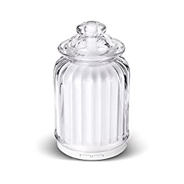 AromaAllure Aroma Diffuser, Ultrasonic Essential Oil Diffuser for Aromatherapy with White Glass Dome