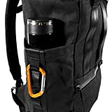 VerBockel Rolltop Backpack | Black Wax Canvas