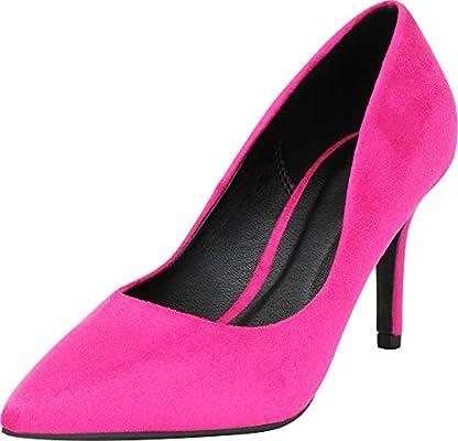 Hot Pink Mid Heels