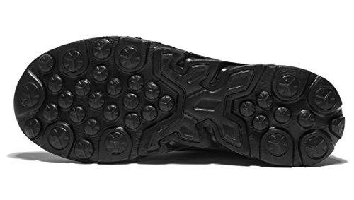 Zapatillas para correr Vanskelin, calzado de hombre, con cordones, malla transpirable, estilo casual negro