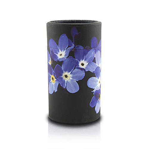 (OneWorld Memorials Forget Me Not Paper Biodegradable Urn for Spreading Ashes - Extra Small - Holds Up to 20 Cubic Inches of Ashes - Purple Black Urns for Scattering Ashes - Engraving Sold Separately)