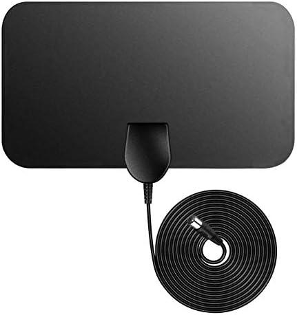 Televisión aérea,Firmrock Antena de TV Cubierta de TDT, 50 Millas Antena de TV Digital amplificada Antena HDTV DVB-T2 de 0.5 mm Ultra Delgada con ...