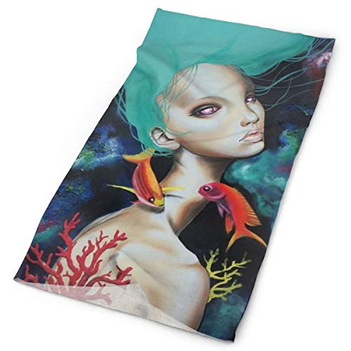 YongColer Head Scarf, Neck Gaiter, Magic Scarf, Sun Cap for Fitness Sports Running Worlout Yoga, Multifunctional/Sweat Wicking Headwear, Underwater Coral Goldfish Goth Gotik Gothic ()