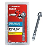 ITW BRANDS - RED HEAD 12373/11273 Wedge Anchor 1/2 Pack of 3