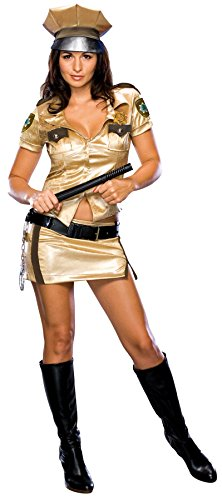 Reno 911 Costume Women (UHC Women's Secret Wishes Reno 911 Deputy Johnson'S Party Halloween Costume, M (8-10))