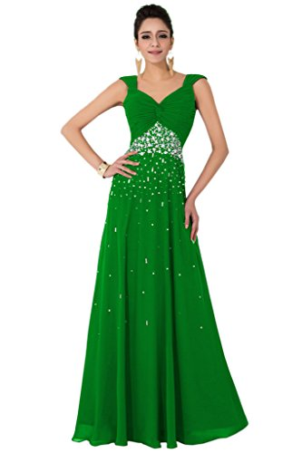 sunvary Gorgeous Spaghetti Strap Crystal bridemsiad de gasa vestidos de novia elegante verde manzana