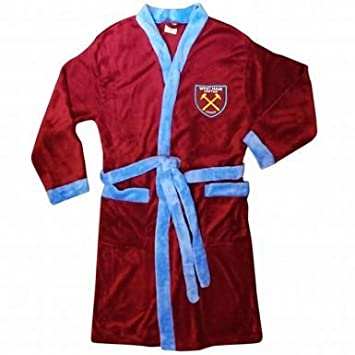West Ham United Adults Dressing Gown Amazoncouk Sports Outdoors