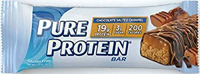 Pure Protein High Protein Bar Chocolate Salted Caramel-Protein Bars-19 Grams of Protein per Bar-Gluten Free-6-1.76-Ounce Bars