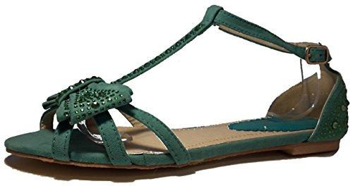 Sandalias mujer, tacones altos, rosa, negro, blanco, beige, marrón, gris, leopardo, modello 11064105008251, zapatos de mujer, diferentes modelos y tamaños. Grün.