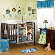 (CoCaLa Peek-A-Boo Monsters 7-Piece Crib Bedding Set )