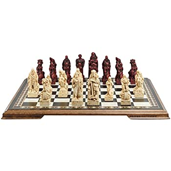 Viking Themed Chess Set   4.5 Inches   In Presentation Box   Handmade In UK