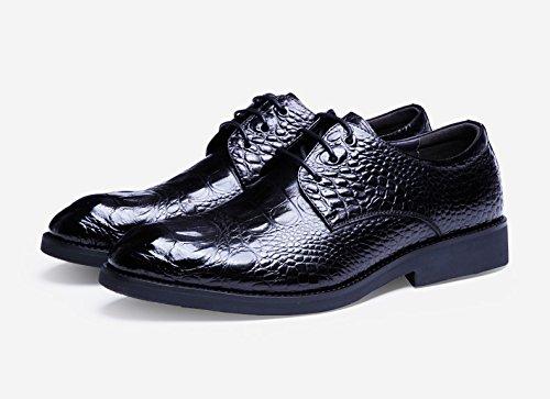 Color Manera de la Size del patrón Zapatos del Oxford Estilo del 42 Hombres Cuero cocodrilo Black de Negocio del EU del Yao Casuales Superior ZpwAH