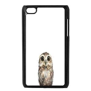 Doah Little Owl Ipod Touch 4 Cases, [Black]