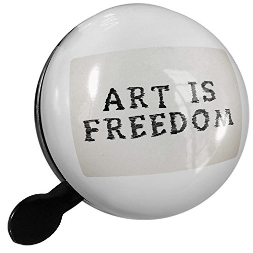 Small Bike Bell Art Is Freedom Art Marker Black on paper - NEONBLOND by NEONBLOND