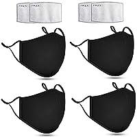 4 stuks Wasbare mondkapje - Mondmasker -Hoogwaardig kwaliteit - winddicht Mondkapje - katoenen Facemask - 3D-maatwerk…