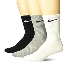 Nike Lightweight Crew, Pack de 3 Calcetines Unisex para Adulto, Negro, 38-42 (M): Amazon.es: Deportes y aire libre