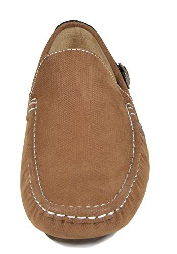 Bruno Marc New York Zapatos De Paseo De Cuero De Imitación Para Hombre Zapatos De Barco 02-bronceado