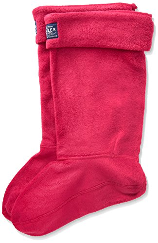Socks Welly Fleece (Joules Womens Fuchsia Welton Fleece Welly Socks -UK 3-4)