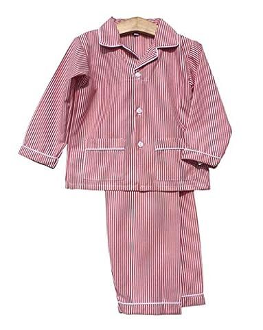Sweet Dreams Boys Unisex Baby Christmas Striped Lightweight Pajamas Red, 3T