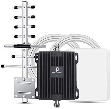 Amplificador de Señal Celular Teléfonos Móviles 4G LTE 2600MHz Repetidor de Señal Booster con Panel y Yagi Antena Kit para Casa/Ufficio Uso