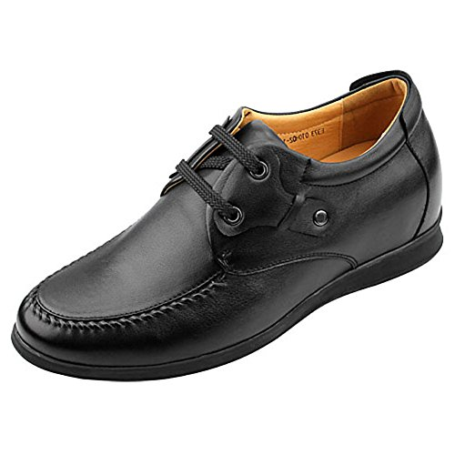 CHAMARIPA height Increasing Insoles Shoes Leather Men Dress Elevator Shoes Lifts 2.56 Taller 010H02-1