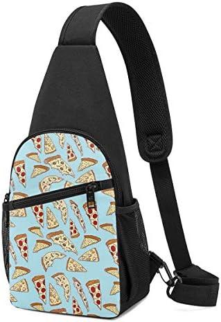 ボディ肩掛け 斜め掛け ピザ ショルダーバッグ ワンショルダーバッグ メンズ 軽量 大容量 多機能レジャーバックパック