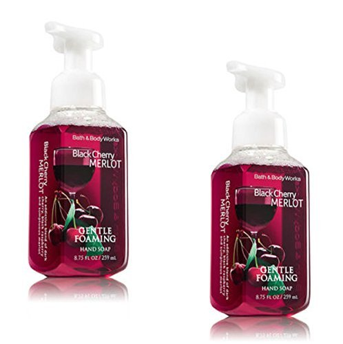 Bath and Body Works Gentle Foaming Hand Soap, Black Cherry Merlot 8.75 Ounce (2-Pack) ()