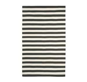 DwellStudio Draper Stripe Ink and Cream Rug, 5 by 8-Feet