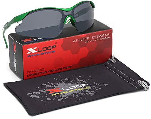 Kids AGE 3-12 Sports Half Frame Cycling Baseball Sport Sunglasses ()