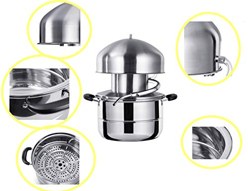 Stainless Steel Distiller For Water,Wine,Oil Alcohol Essential Oil Separator (10L) by sanheng fire (Image #1)