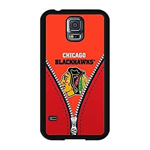 Chicago Blackhawks Graphic Ice Hockey Team Symbol Solid Case Cover for Samsung Galaxy S5 I9600 Designed by HnW Accessories