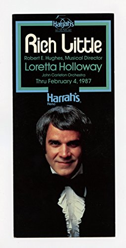 (Richi Little 1987 Feb 4 Harrah's Reno Hotel Casino Postcard)