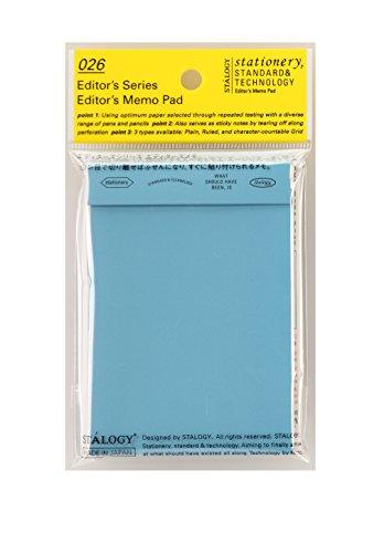 stalogy 026 Editor's Series Editor's Memo Pad (Blue / plain)