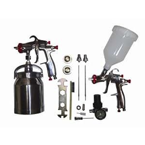 California Air Tools SPRAYIT LVLP Spray Gun Kit, Color Silver, Capacity 1qt (Base UPC 0074336933310)