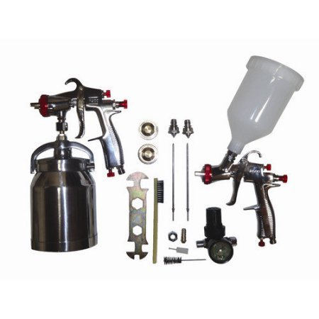 California Air Tools SPRAYIT LVLP Spray Gun Kit, Color Silver, Capacity 1qt (Base UPC 0074336933310) (Contact Cement Spray Gun compare prices)