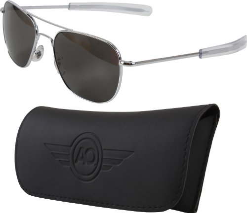 Fox American Optics Air Force Pilots Genuine GI Sunglasses, Chrome, 55 - Us Army Sunglasses