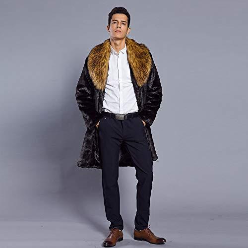 Uomini Outwear Cardigan Cime Parka Cappotto Moda Marrone Mens Cappotti Di Tomatoa Pelliccia Spessore Caldi Finto Collo Giacca dfwZqXBxI