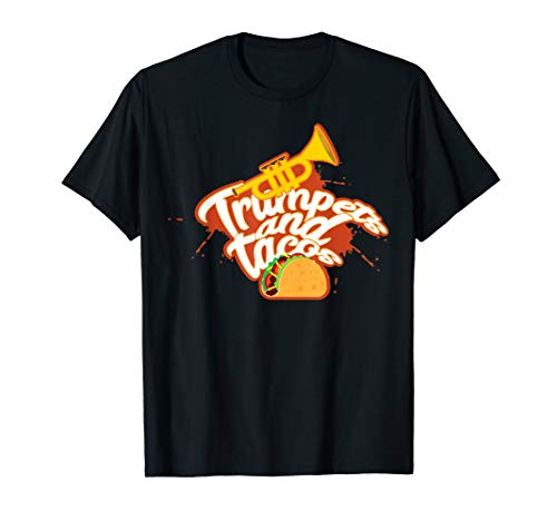 Funny Trumpet and Tacos Marching Band T-Shirt Gift