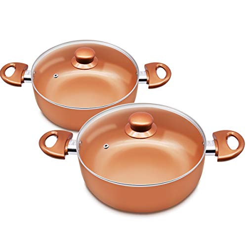 KUTIME 4qt and 1qt Soup Pot | Ceramic Nonstic Coating Casser