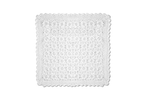 Heritage Lace Blue Ribbon Crochet Doily, 14 by 14-Inch, W...
