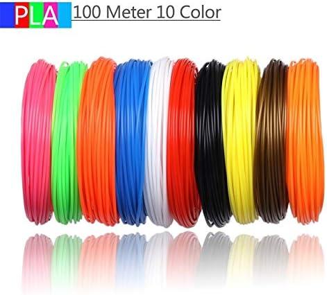 Wang-nuan-jun, 10 Colores 100 Metros Impresora 3D filamento PLA ...