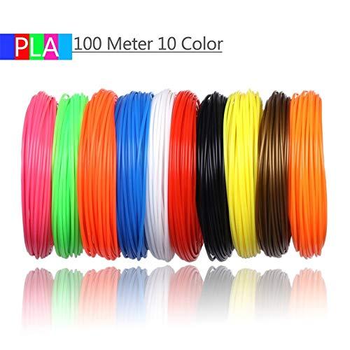 Wang-nuan-jun, 10 Colores 100 Metros Impresora 3D filamento ...