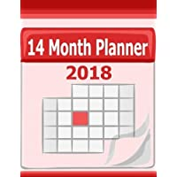 14 Month Planner 2018: This 14 month planner for 2018 includes a blank calendar with daily   boxes to write in, a monthly log and note sheet for each ... and easily see your plans at a glance.