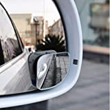 Autumn Water 2pcs/lot Car Accessories Small Round Mirror Car Rearview Mirror Blind Spot Wide-angle Lens 360 degree Rotation Adjustable