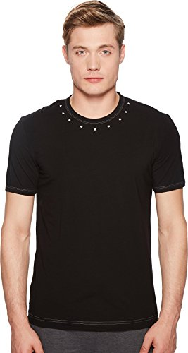 Dolce & Gabbana Men's Pima Stretch Cotton Crew Neck T-Shirt Black 4 Dolce & Gabbana Mens Clothing
