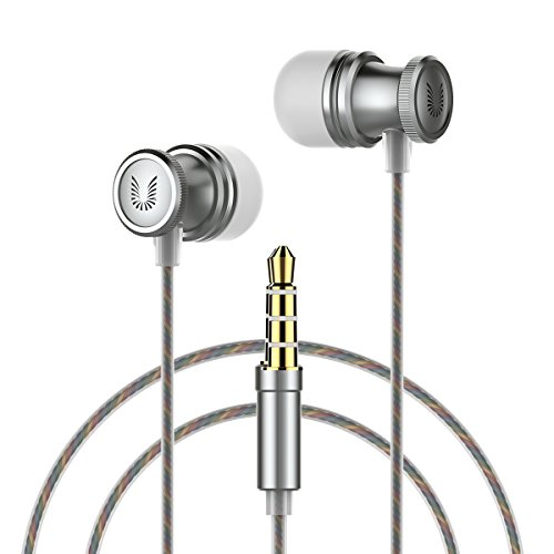 Earbuds, UiiSii E6 In Ear Earphones with Microphone, Sports Headphones with Stereo bass, Comfort Fit for Apple iOS and Android Smartphones - Earphones Fit