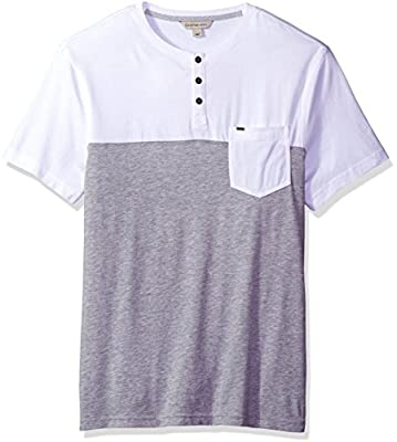 Calvin Klein Jeans Men's Short Sleeve Color Block Henley Shirt