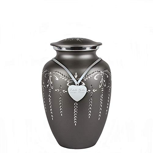Perfect Memorials Custom Engraved Medium Fancy Flourish Cremation Urn